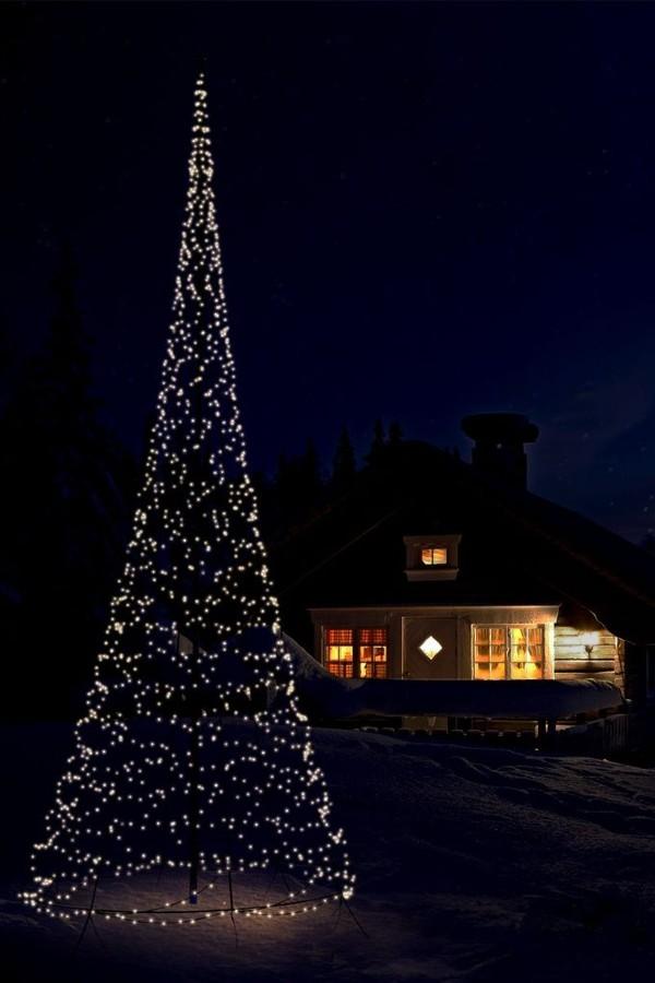 billig fairybell julelyskæde til flagstangen