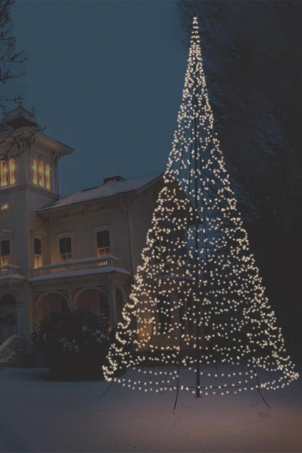 Fairybell julelys til flagstangen fra joflagstang